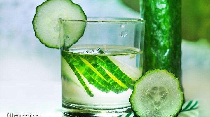 citromos uborkás víz