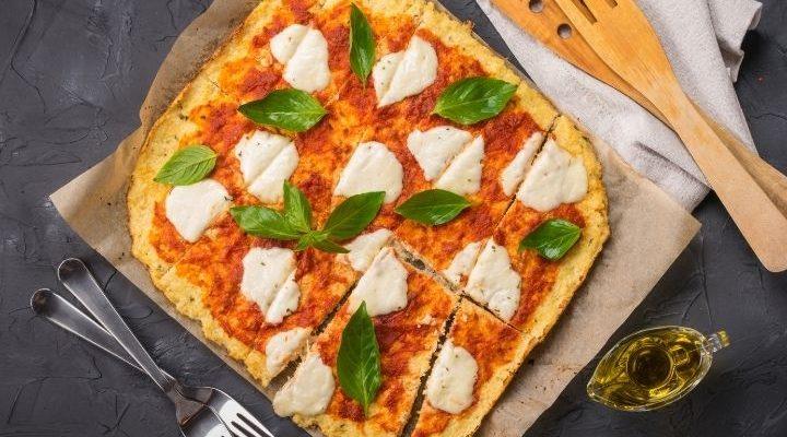 diétás ropogós karfiolpizza