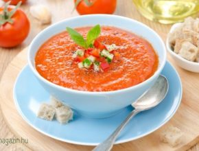 hideg gazpacho leves recept
